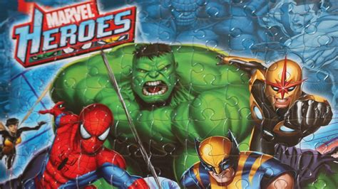 Marvel Heroes JigSaw Puzzle Time Lapse - Wolverine, Spider
