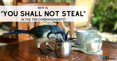 """Why is """"You shall not steal"""" in the Ten Commandments"""