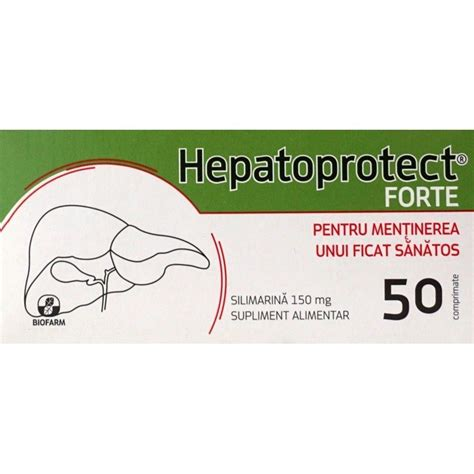 Hepatoprotect Forte Silimarină 150mg, 50 comprimate