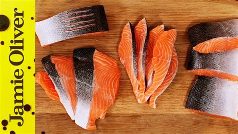 How to Fillet a Salmon or Trout | Jamie Oliver - YouTube