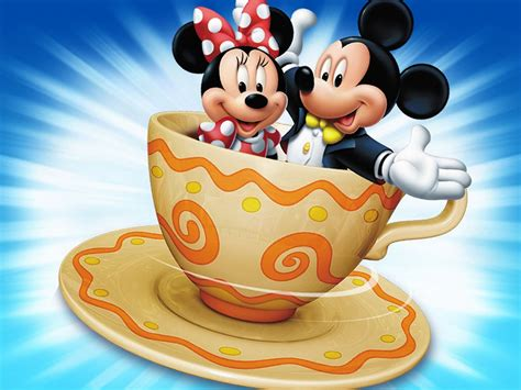Mickey & Minnie Mouse Cartoon Pictures Cup Coffee Hd