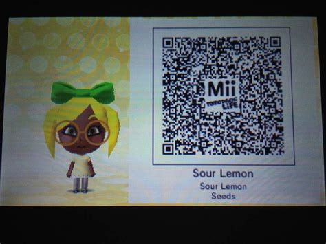 The qr codes to the characters   Tomodachi Life Amino