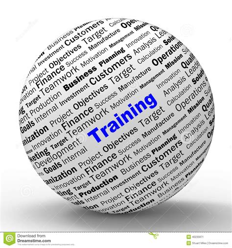 Training Sphere Definition Shows Instructing Or Stock