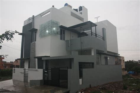 House Designs Bangalore - Front Elevation by Ashwin