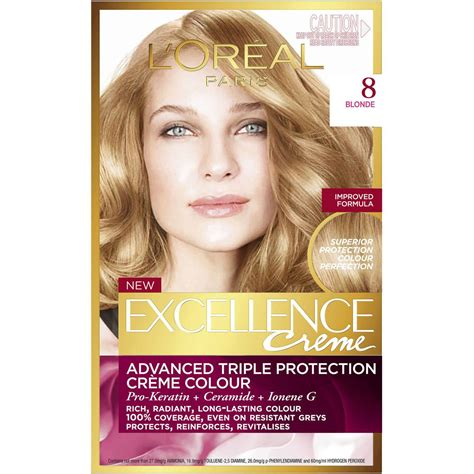 L'oreal Excellence Crème 8 Blonde 1pk   Woolworths