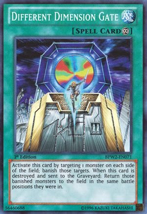 Different Dimension Gate   Decks and Ruling   YuGiOh! Duel
