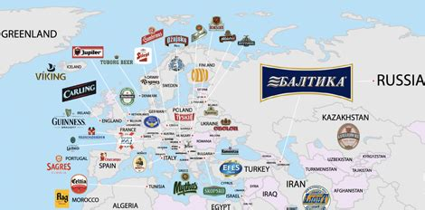 This Map of the World's Most Popular Beers is Kind of