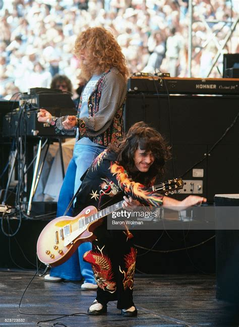 Guitarist and leader of English rock band Led Zeppelin