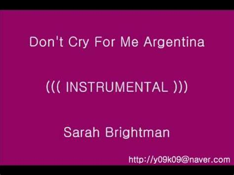 Don't Cry For Me Argentina - Sarah Brightman_[가사, 歌詞