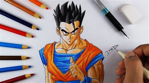 How to draw GOHAN from DRAGON BALL Z [ DBZ Character