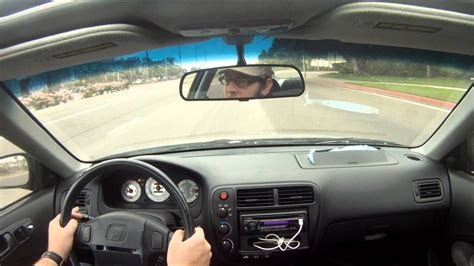 Interior sound test of 2000 Honda Civic Si with GoPro